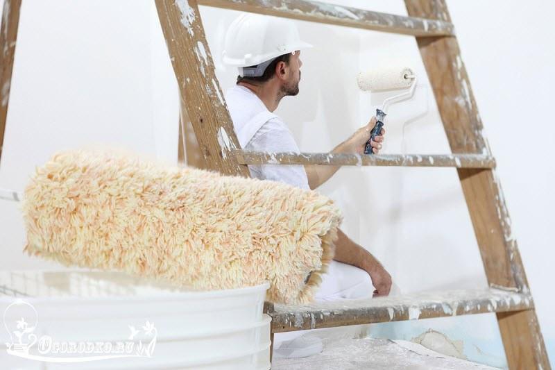 покраска стен водоэмульсионной краской