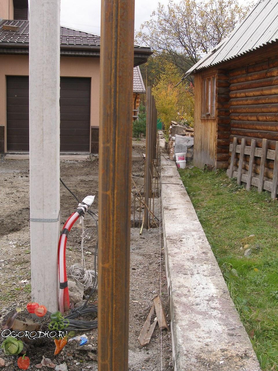 столбы для деревянного забора