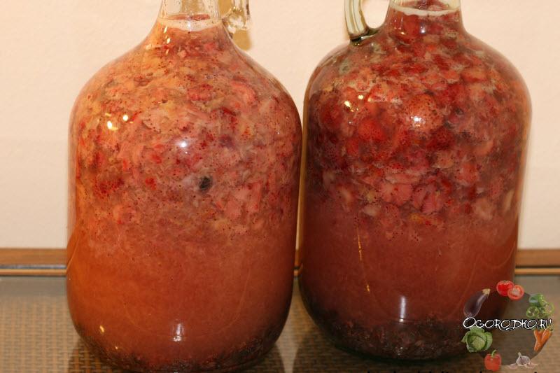 клубничное вино рецепт