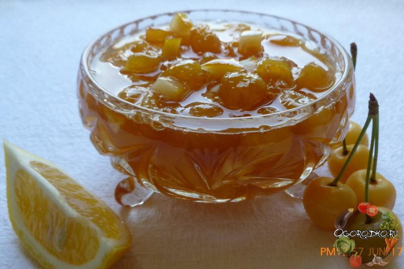 варенье из черешни без косточек с лимоном