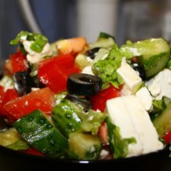 греческий салат, рецепт приготовления