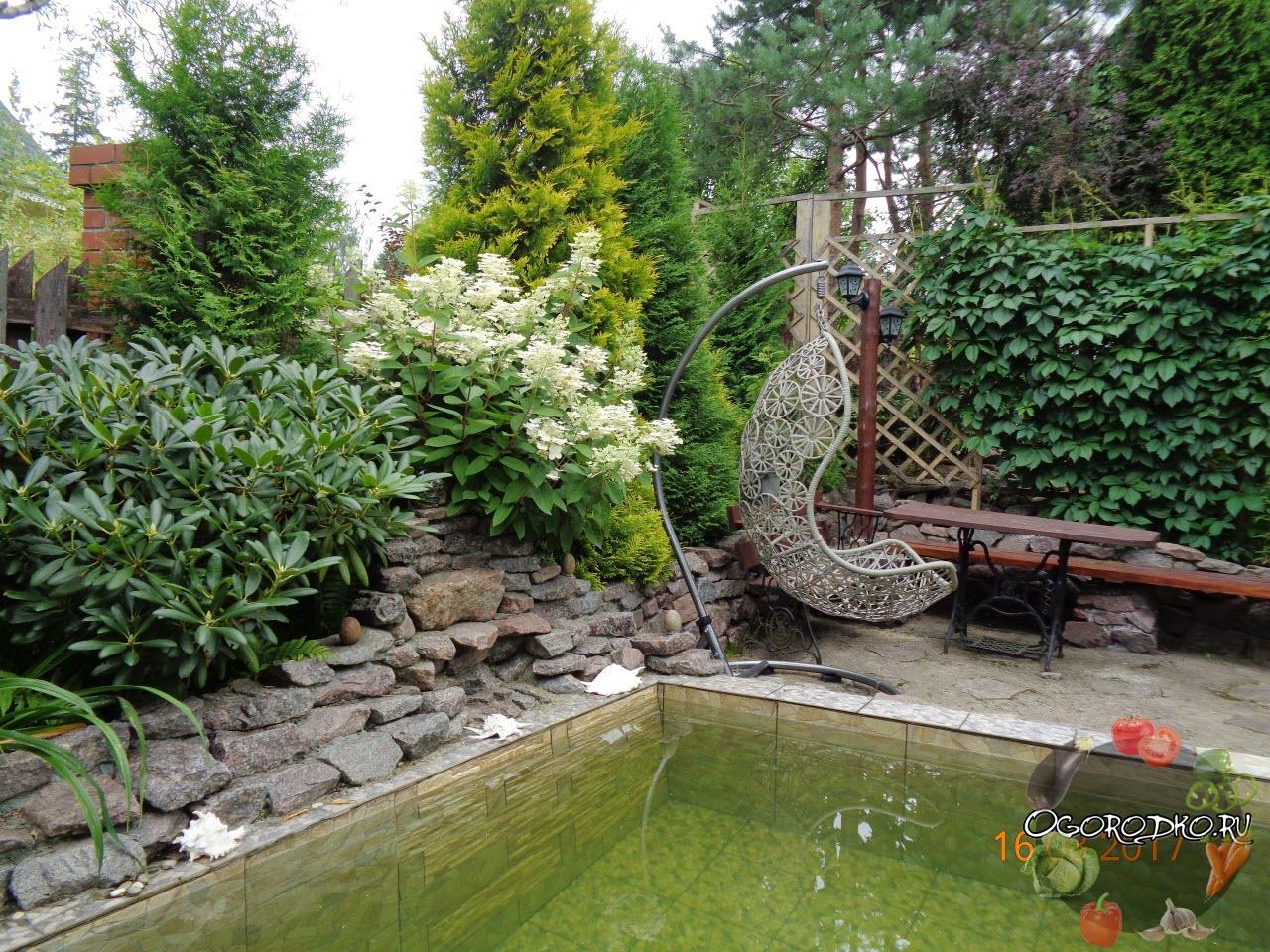 релакс зона на садовом участке