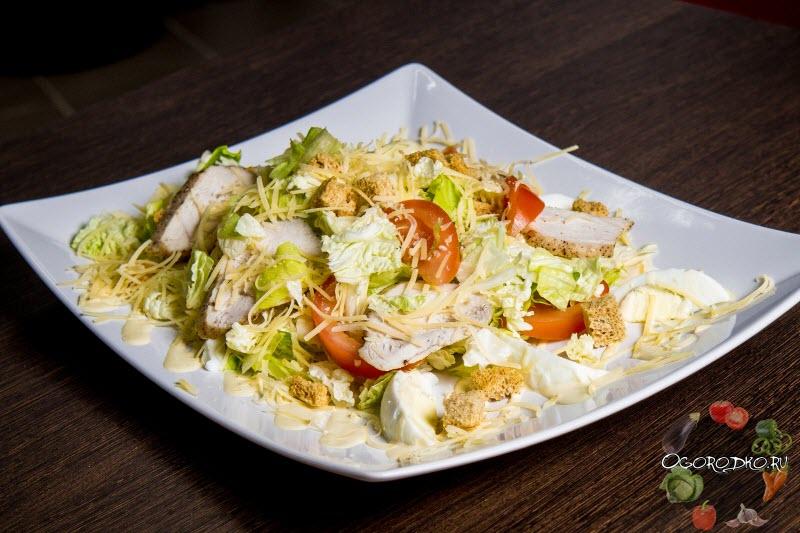 рецепт салата цезарь с соевым соусом