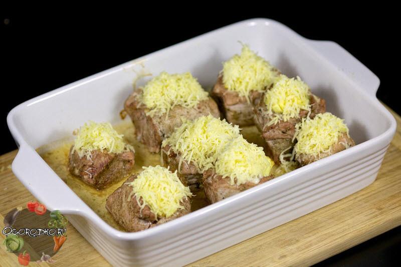 свиные карманы фаршированные ананасом