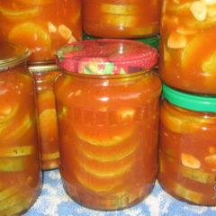 кабачки в томатном соусе на зиму, рецепт приготовления