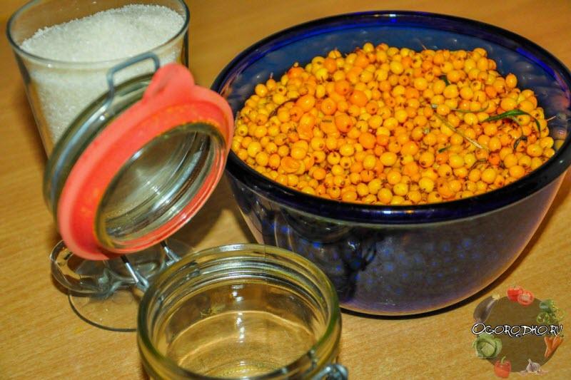 Как приготовить облепиху на зиму с сахаром