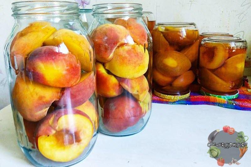 Персики в сиропе на зиму