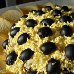 Салат Подсолнух с чипсами, рецепт с фото