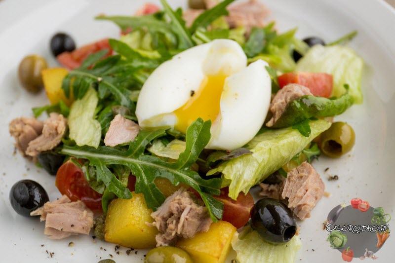 Салат с тунцом диетический
