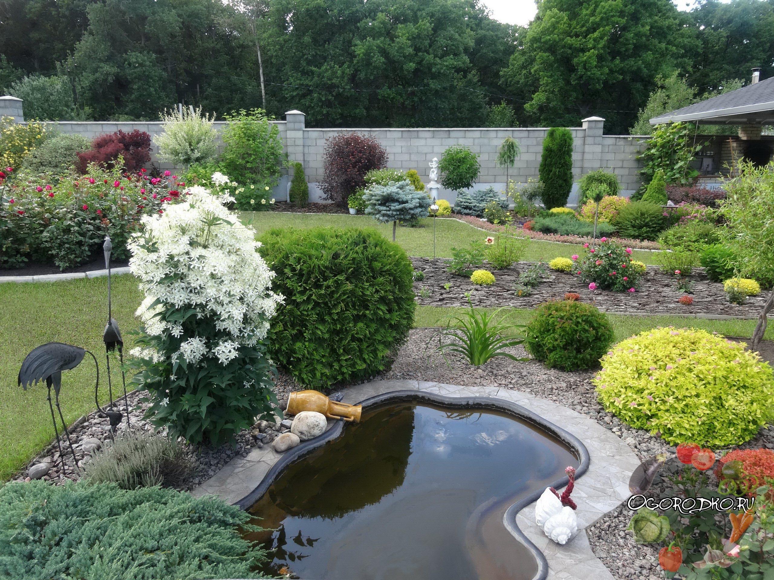 Красиво оформленные садовые участки фото