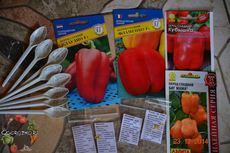семена перца для рассады