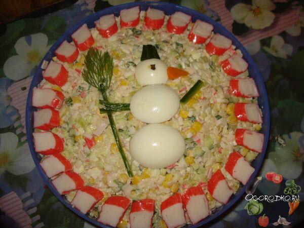 украшение крабового салата