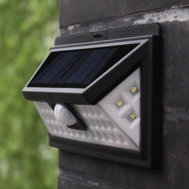 светильник на солнечной батарее с датчиком движения