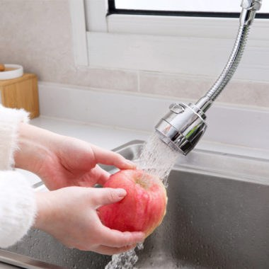 кран с выдвижным душем для кухни