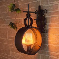 декоративная лампа с эффектом пламени