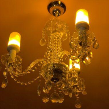 лампа костер